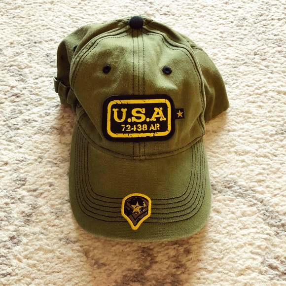 Other - Drab green military-style USA Youth hat